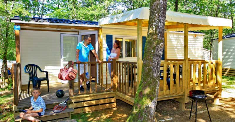 4 location mobil home castelnaud la chapelle, CAMPING LOU CASTEL